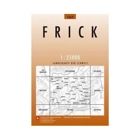 Achat Carte randonnées swisstopo - Frick - 1069