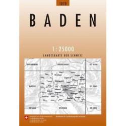 Achat Carte randonnées swisstopo - Baden - 1070