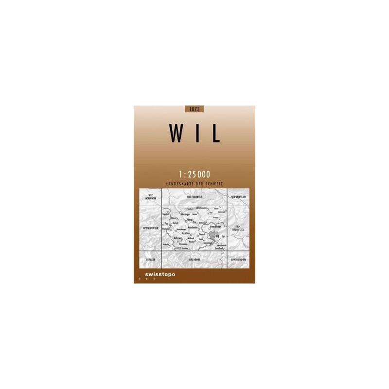 Achat Carte randonnées swisstopo - Wil - 1073