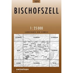 Achat Carte randonnées swisstopo - Bischofszell - 1074