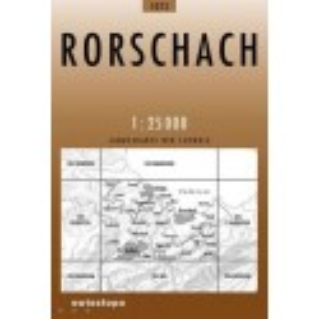 Achat Carte randonnées swisstopo - Rorschach - 1075