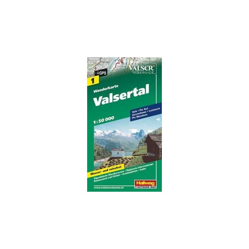 Achat Carte randonnées - Valsertal - Hallwag 1