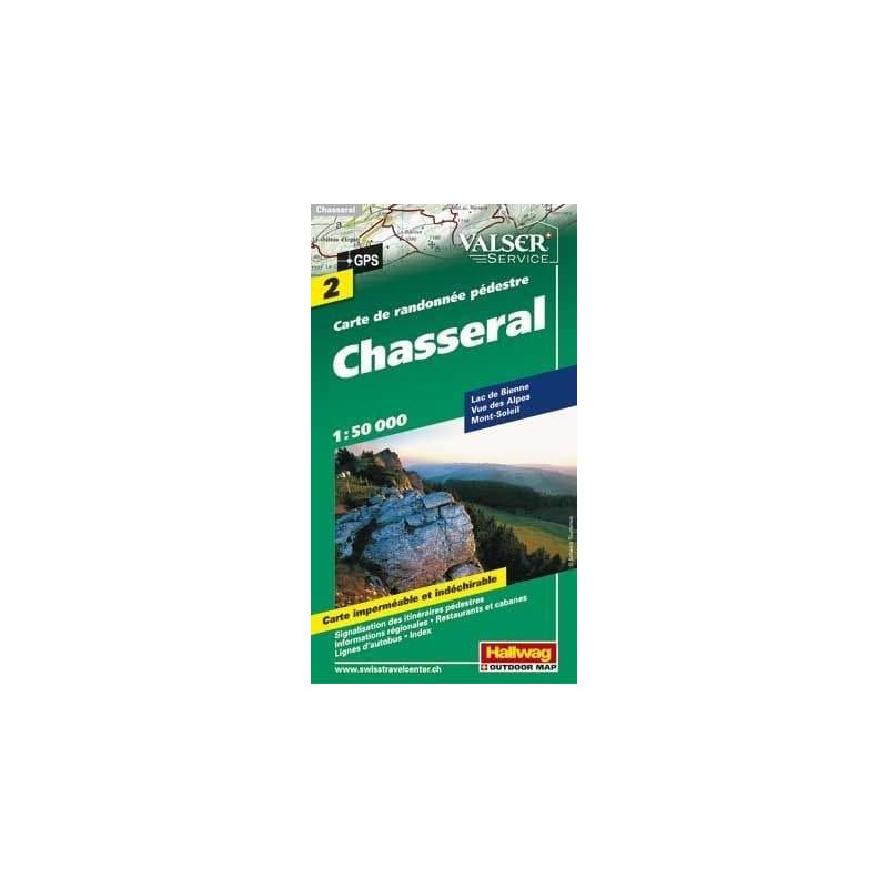 Achat Carte randonnées - Chasseral - Hallwag 2