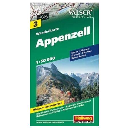 Achat Carte randonnées - Appenzell - Hallwag 3