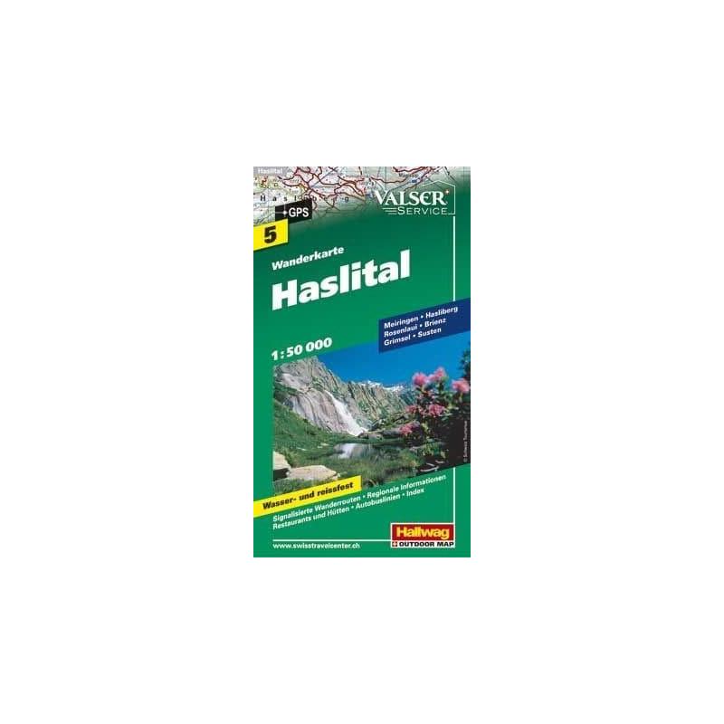 Achat Carte randonnées - Haslital - Hallwag 5