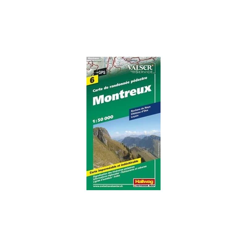 Achat Carte randonnées - Montreux - Hallwag 6