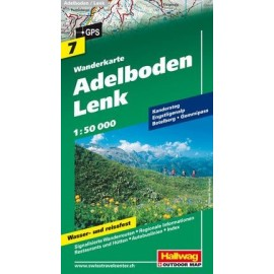 Achat Carte randonnées - Adelboden / Lenk - Hallwag