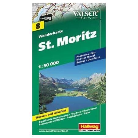 Achat Carte randonnées - St. Moritz - Hallwag 8