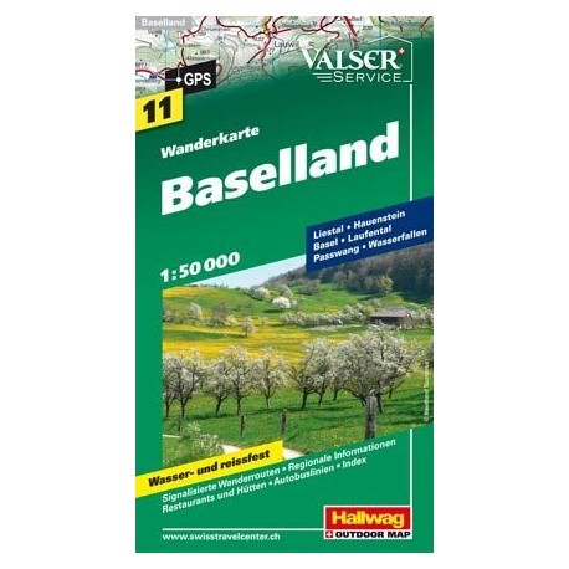 Achat Carte randonnées Baselland - Hallwag 11