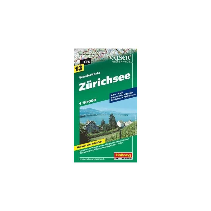 Achat Carte randonnées Zürichsee - Hallwag 13