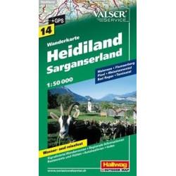 Achat Carte randonnées Heidiland, Sarganerland - 14