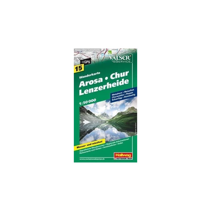 Achat Carte randonnées Arosa - Chur - Lenzerheide - Hallwag 15