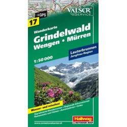 Achat Carte randonnées Grindelwald - Hallwag 17