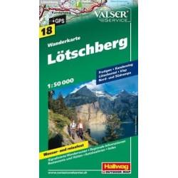 Achat Carte randonnées Lötschberg - Hallwag 18