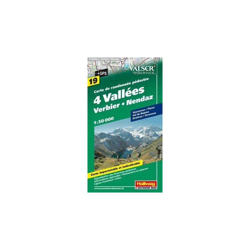 Achat Carte randonnées 4 Vallées Verbier Nendaz - Hallwag 19