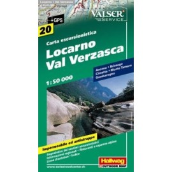 Achat Carte randonnées Locarno / Val Verzasca - Hallwag 20