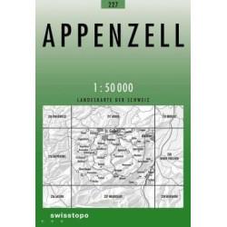 Achat Carte randonnées swisstopo - Appenzell - 227