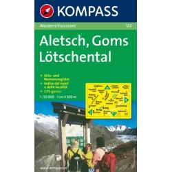 Cartes randonnées Aletsch-Goms-Lötschental - Kompass 122