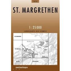 Achat Carte randonnées swisstopo - St. Margrethen - 1076