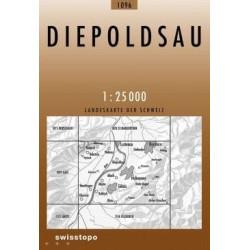 Achat Carte randonnées swisstopo - Diepoldsau - 1096