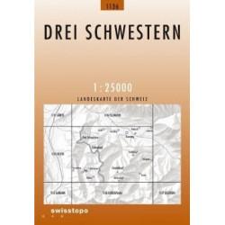 Achat Carte randonnées swisstopo - Drei Schwestern - 1136