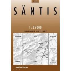 Achat Carte randonnées swisstopo - Säntis - 1115