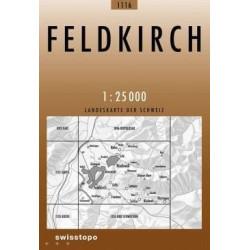 Achat Carte randonnées swisstopo - Feldkirch - 1116