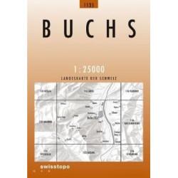 Achat Carte randonnées swisstopo - Buchs - 1135