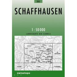 Achat Carte randonnées swisstopo - Schaffhausen - 205