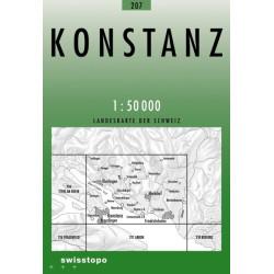 Achat Carte randonnées swisstopo - Konstanz - 207