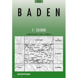 Achat Carte randonnées swisstopo - Baden - 215