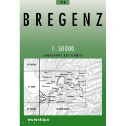 Achat Cartes randonnées swisstopo - Bregenz - 218