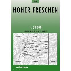 Achat Carte randonnées swisstopo - Hoher Freschen - 228