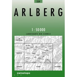 Achat Carte randonnées swisstopo - Arlberg - 239