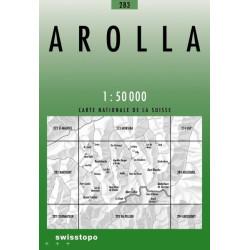 Achat Carte randonnées swisstopo - Arolla - 283
