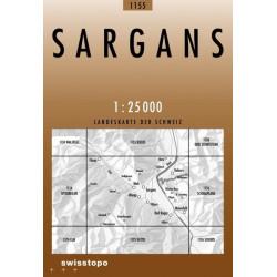 Achat Carte randonnées swisstopo - Sargans - 1155