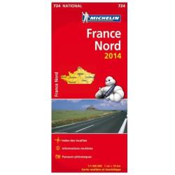 Achat Carte routière Michelin - France Nord 2018 - 724