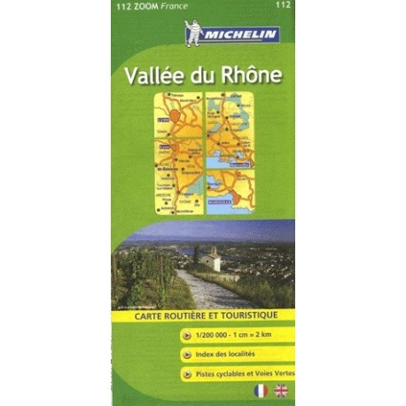 Achat Carte routière Michelin - Vallée du Rhône - Zoom 112
