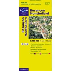 Achat Carte routière TOP 100 IGN - Besançon Montbéliard - 137