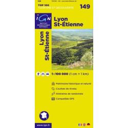 Achat Carte routière TOP 100 IGN - Lyon St-Etienne - 149
