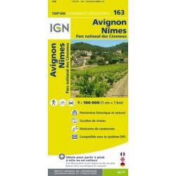Achat Carte routière TOP 100 IGN - Avignon Nîmes - 163