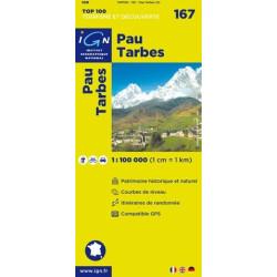 Achat Carte routière TOP 100 IGN - Pau Tarbes - 167