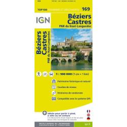 Achat Carte routière TOP 100 IGN - Beziers Castres - 169