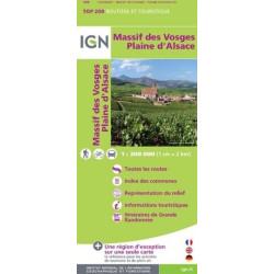Achat Carte routière IGN - Massif des Vosges