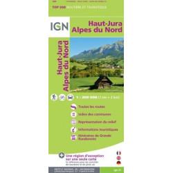 Achat Carte routière IGN - Haut Jura, Alpes du Nord