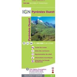 Achat Carte routière IGN - Pyrénées ouest