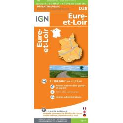 Achat carte routière Eure et Loir - IGN - D28
