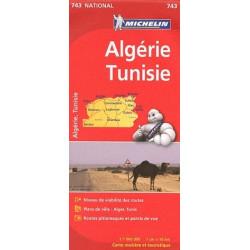 Achat Carte routière Michelin - Algérie Tunisie - 743