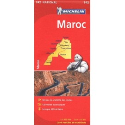 Achat Carte routière Michelin - Maroc - 742