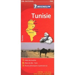 Achat Carte routière Michelin - Tunisie - 744